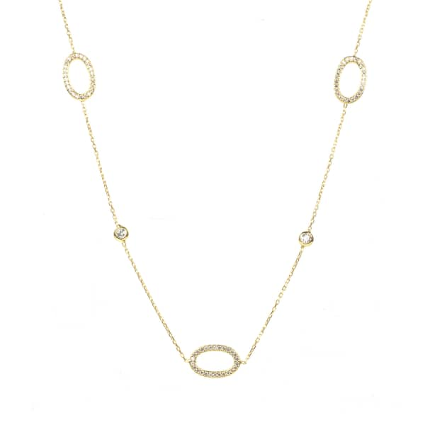 LATELITA LONDON Long Chain Hollow Oval Necklace Gold