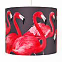 Flock of Flamingos Lampshade Large image