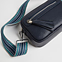 Crossbody Bag In Navy With Interchangeable Straps image