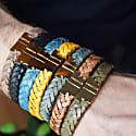 Jargon Jade Gold Leather Bracelet Serac Bracelet image