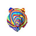 Papier Mache Rainbow Lion Head image