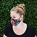 Women'S Silk & Cotton Reversible Face Mask - Fall Vibes image