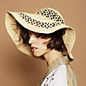Christie Large Raffia Sun Hat Natural image