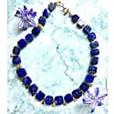 Flat Square Natural Lapis Lazuli Choker Necklace image
