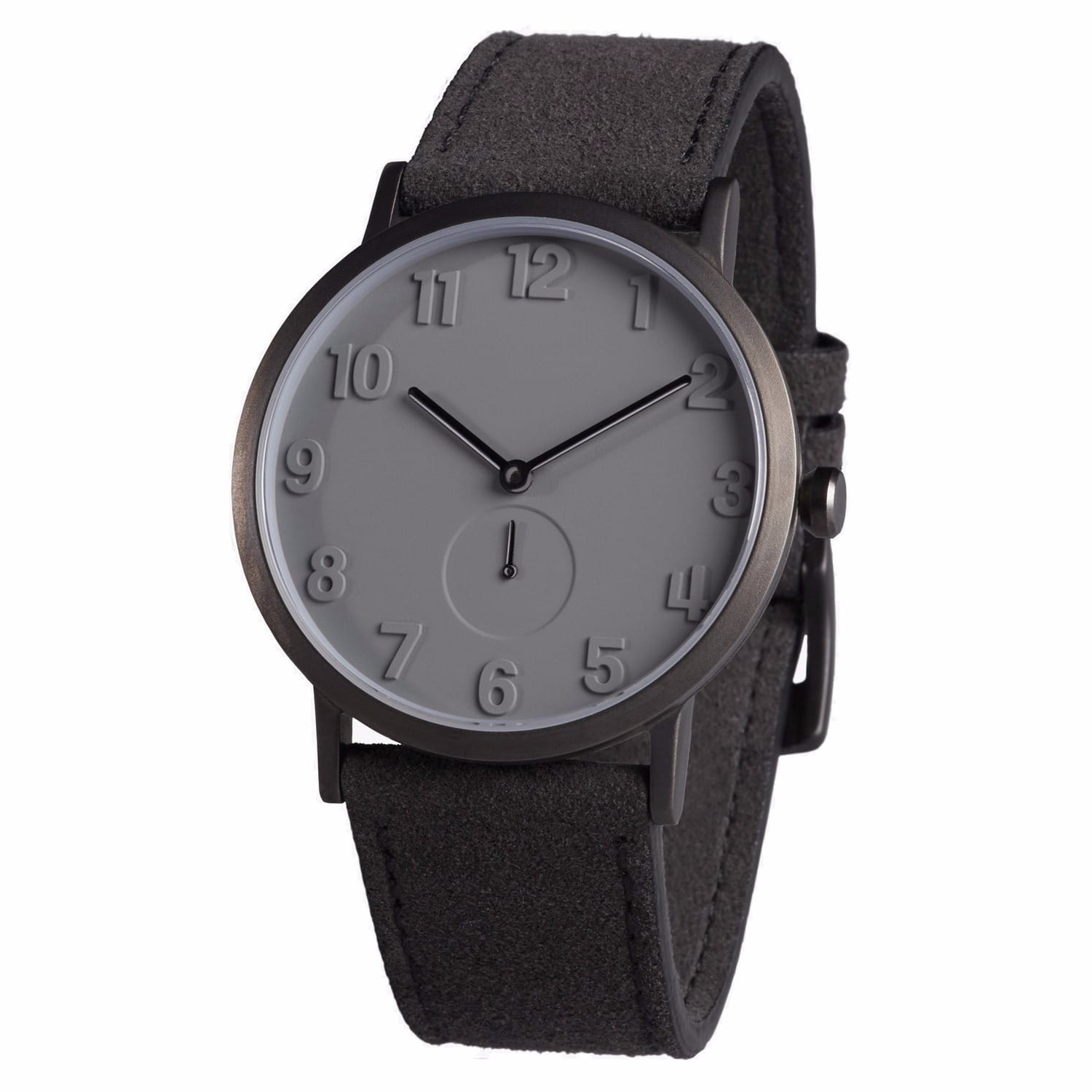 fb6a18711306 PVD Grey Stainless Steel Watch with Alcantara Strap image