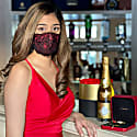 Red Rose Lace Mask image