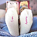 Cream Awesome Bed Socks image