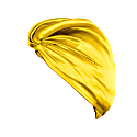Pure Mulberry Silk Hair Turban Saffron image