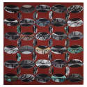 Beads Rust Red Large Square Scarf image
