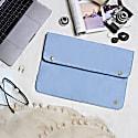 Oslo Macbook Case In Vintage Blue Suede image