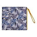Blue Palm Pouch & Yellow Wristlet Gift Set image
