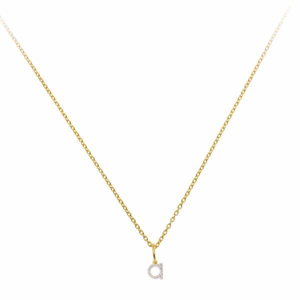 SHARON MILLS LONDON Monogram Mini Diamond Necklace A