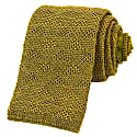 Olive Green Diamonds Linen Knitted Tie image