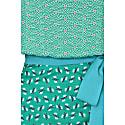 Cosrob Dress Green Stripey Triangle Mix image