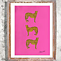 """Three Cheetah"" Signed Print image"