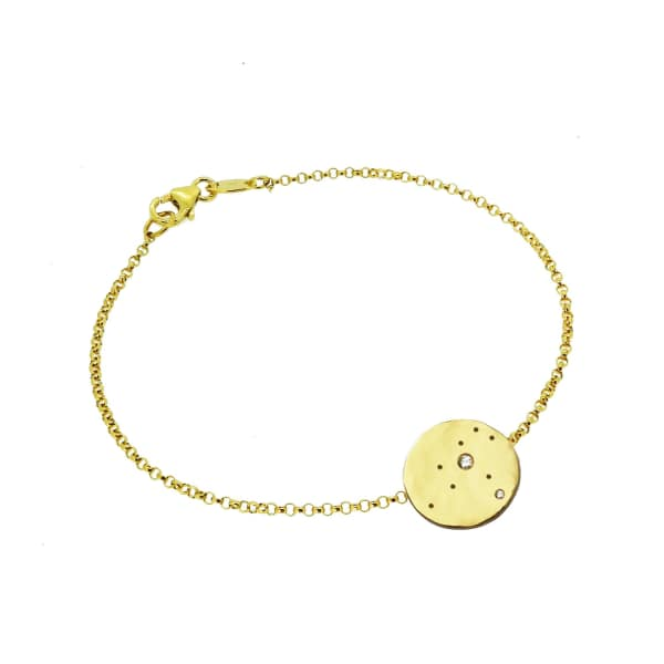 YVONNE HENDERSON JEWELLERY Leo Constellation Bracelet With White Sapphires - Gold