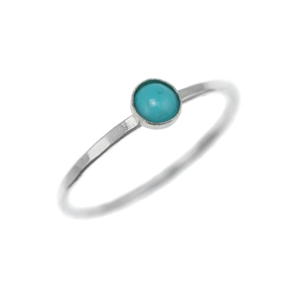 FEATHER+STONE Silver Natural Turquoise Ring