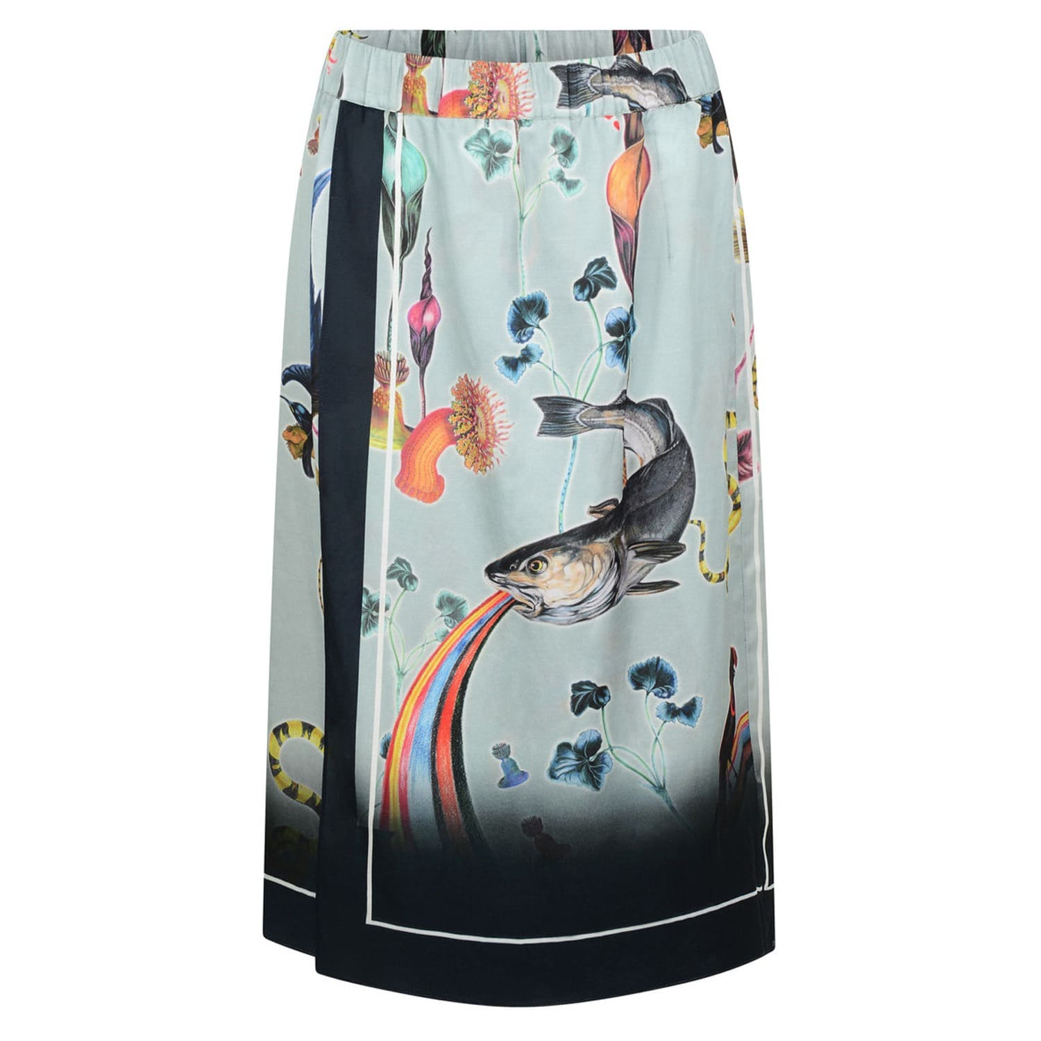 Scarf Skirt In Rainbow Trout Print
