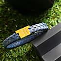 Royal Blue Leather Bracelet - Serac Gold image