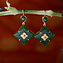 Toyah Aventurine Diamond Earrings image