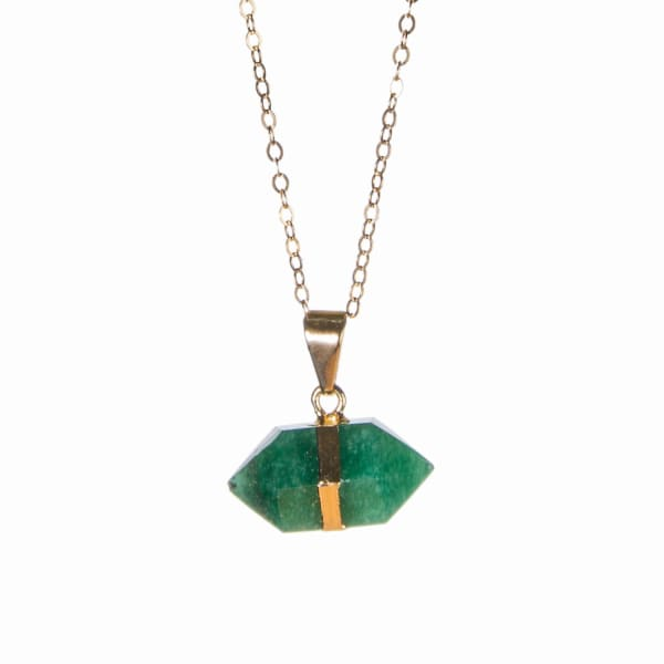 Tiana Jewel Mini Green Quartz Bi-Terminated Gemstone Necklace