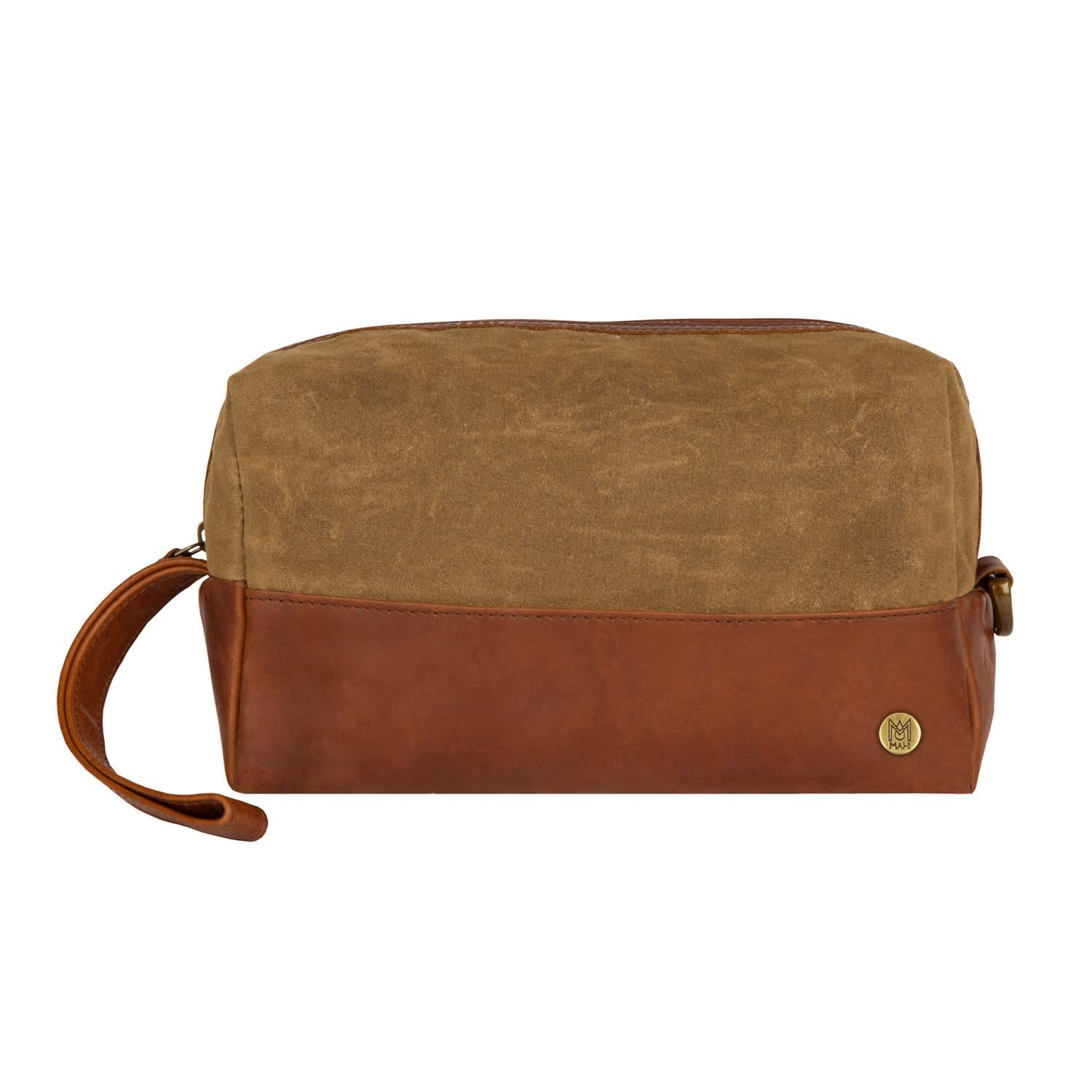 d3dc1ec37ce5 Canvas   Leather Classic Wash Bag In Forest Green   Brown
