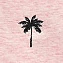 Palm Tree Embroidered T-Shirt Pink Men image