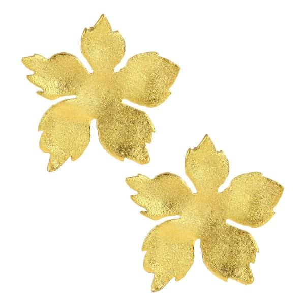 OTTOMAN HANDS Cherry Blossom Gold Statement Earrings