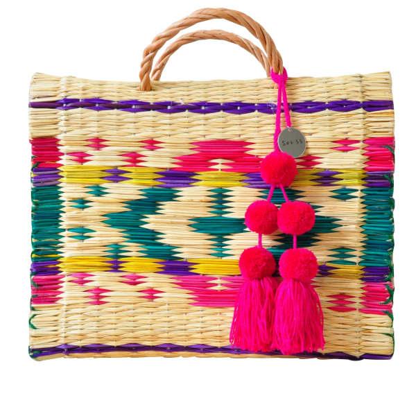SOI 55 Portuguese Basket Bag Maria With Pom-Pom