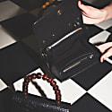 Almond Bag Mini Black Croc Mat image