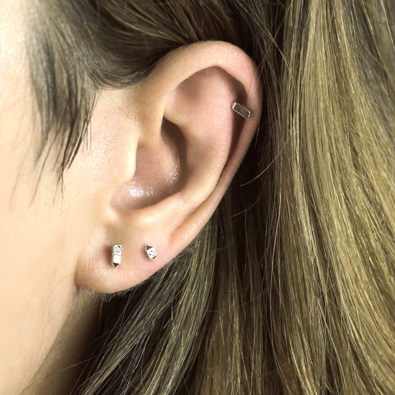 Sevivon 18k White Gold Diamond Cartilage Piercing Stud Lena
