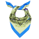 Azure Siena Silk Scarf image