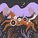 Running Horse Large Screenprint image