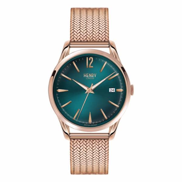 HENRY LONDON Ladies 39mm Stratford Stainless Steel Bracelet Watch