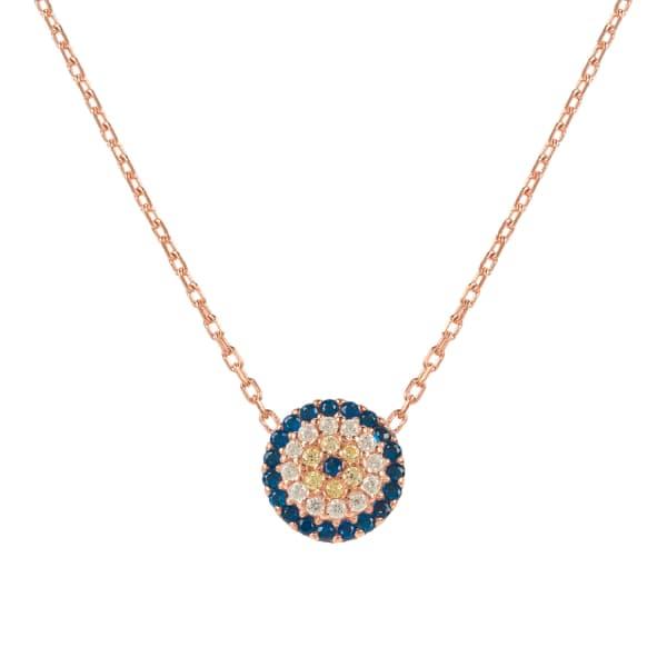 LATELITA LONDON Evil Eye Necklace Rosegold