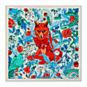 Two Foxes Teal Statement Scarf image
