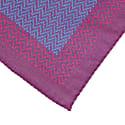 Magenta Multi Zigzag Printed Cotton Pocket Square  image