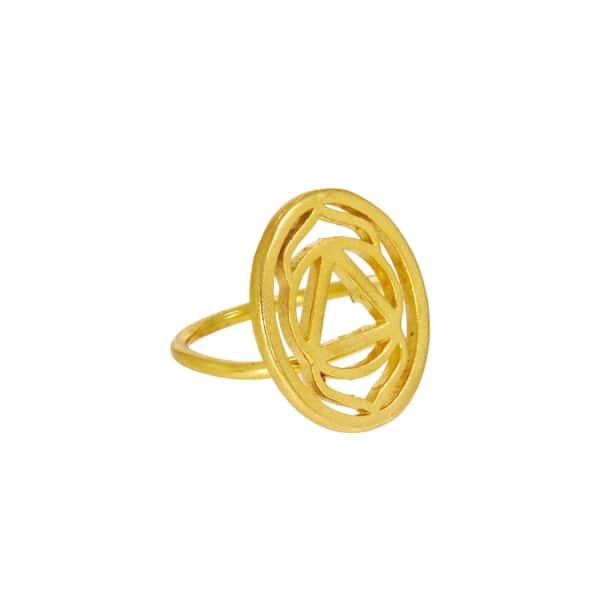 OTTOMAN HANDS Gold Brow Chakra Ring