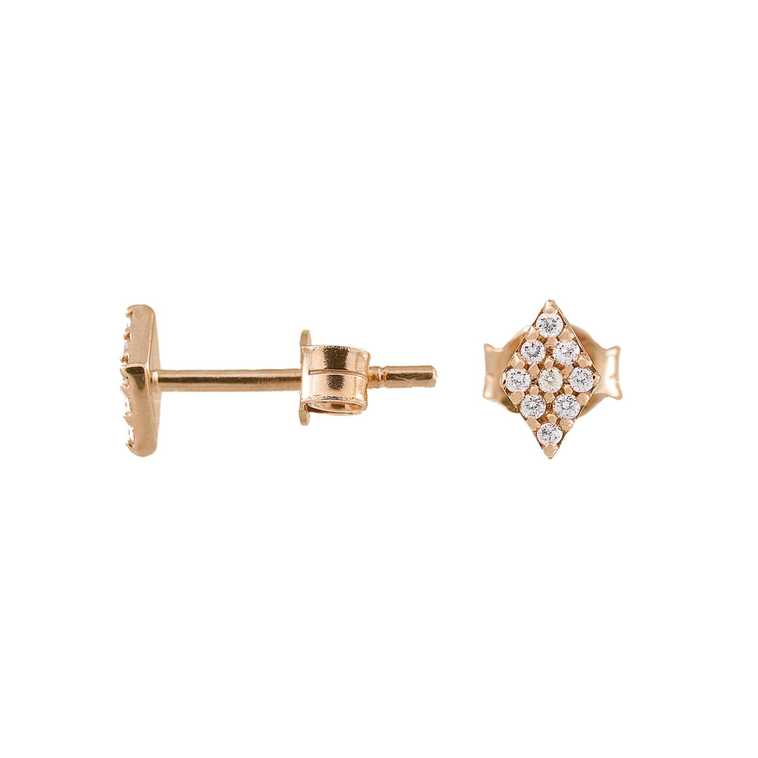 Jezebel London 14kt Rose Gold & Diamond Duke Stud Earring