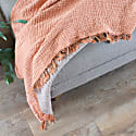 Terracotta Crinkle Cotton Large Throw image