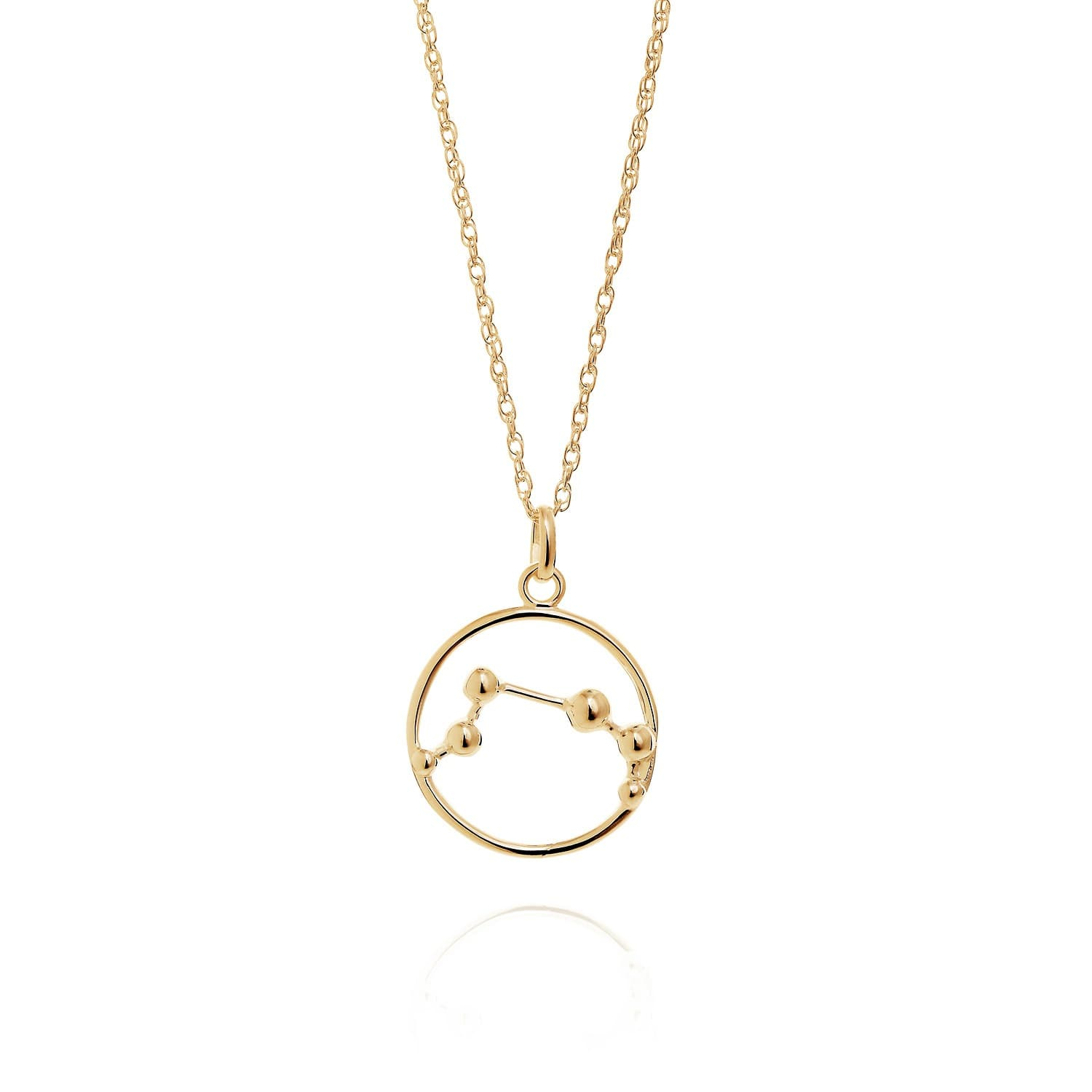 Aries Astrology Necklace In 9ct Gold Yasmin Everley Jewellery