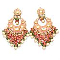 Dreamcatcher Earrings - Pink image