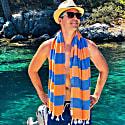 Carnival Travel Towel Orange & Royal Blue image