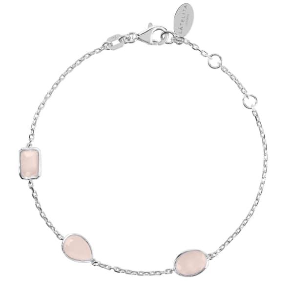 LATELITA LONDON Venice Bracelet Silver Rose Quartz