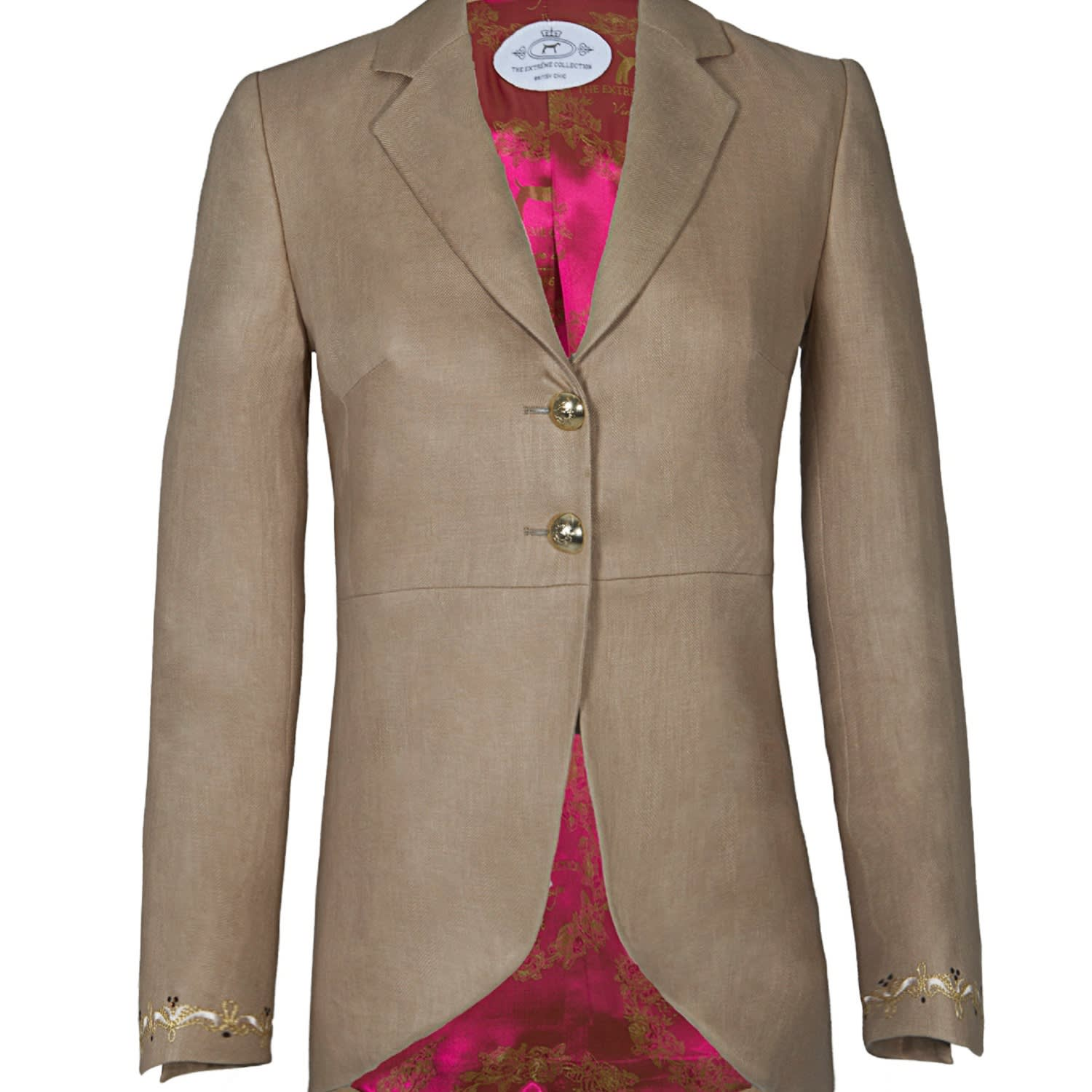 c70b9d680b049 Frac Beige Blazer With Details | The Extreme Collection | Wolf & Badger