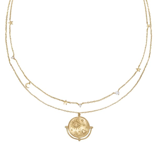 Wanderlust + Co Astra Gold Necklace
