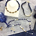 Oval Lapis Lazuli With Freshwater Pearls Multi-Way Necklace image
