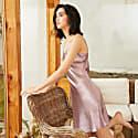 22Mm Organic Silk Dress Elegant V-Neck-Marilyn Pale Purple image