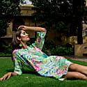 Florida Print Linen Tunic Dress image