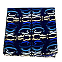 Banners - Blue - Hand Rolled Silk Pocket Square image